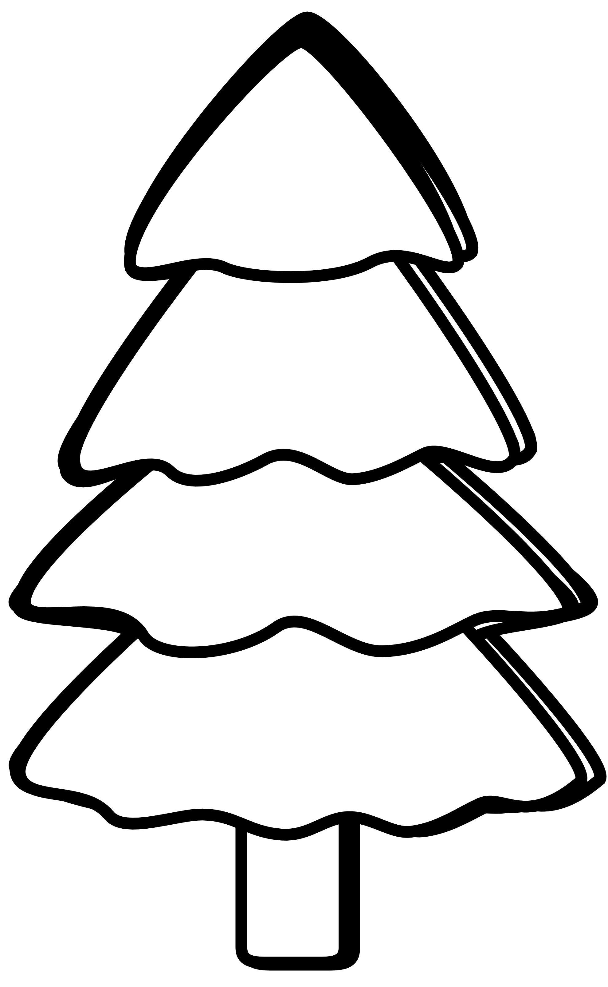 Bare Christmas Tree Clipart.Bare Tree Clipart Black And White