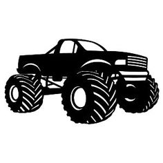 Monster Truck Clipart Black And White - Free clip art of monster truck clipart 5 - Clipartix