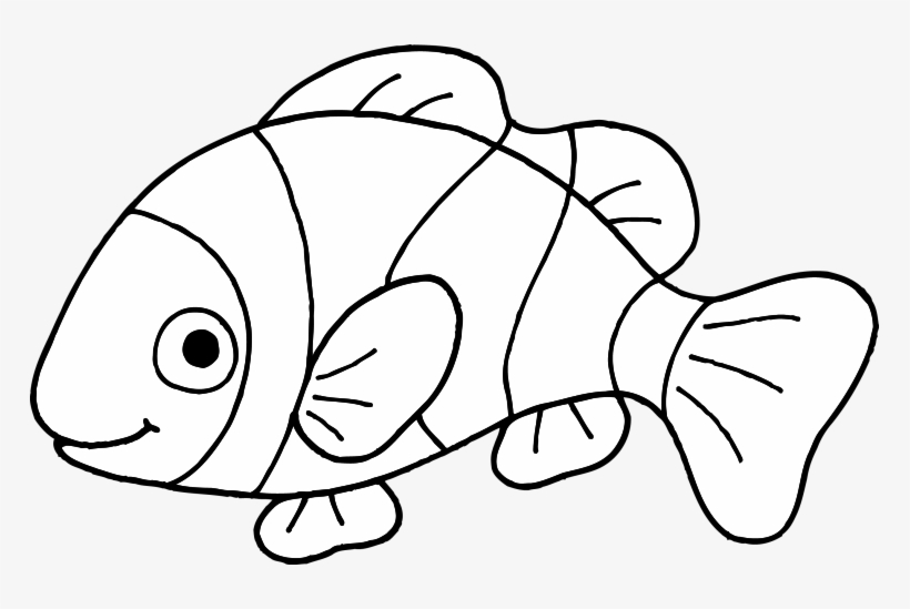 Goldfish Coloring Page Png - Free Coloring Pages Of Clown Fish Outline Coloring - Clip Art Fish ...