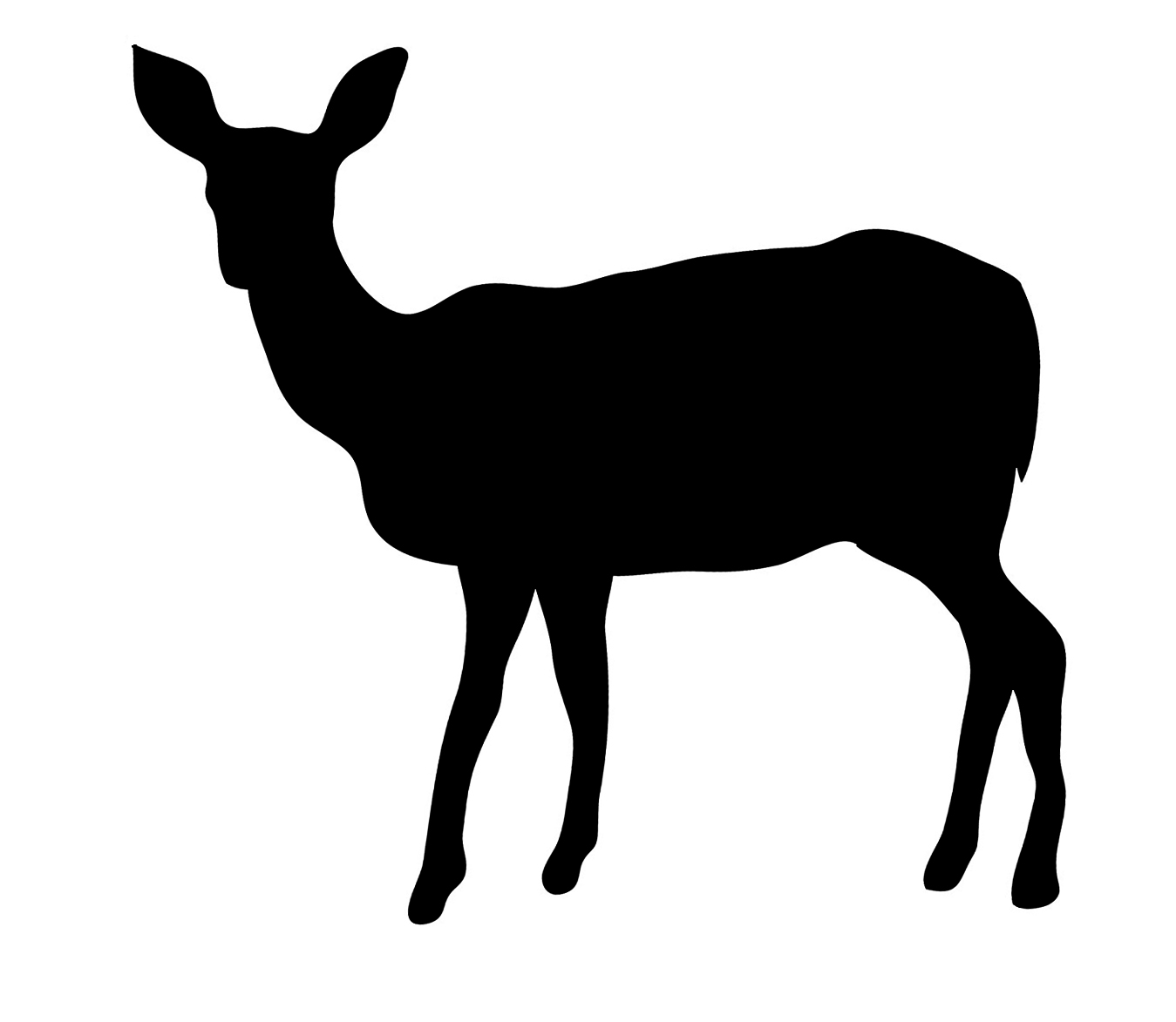 Fawn Silhouette Png - Free Deer Silhouette Png, Download Free Clip Art, Free Clip Art on ...