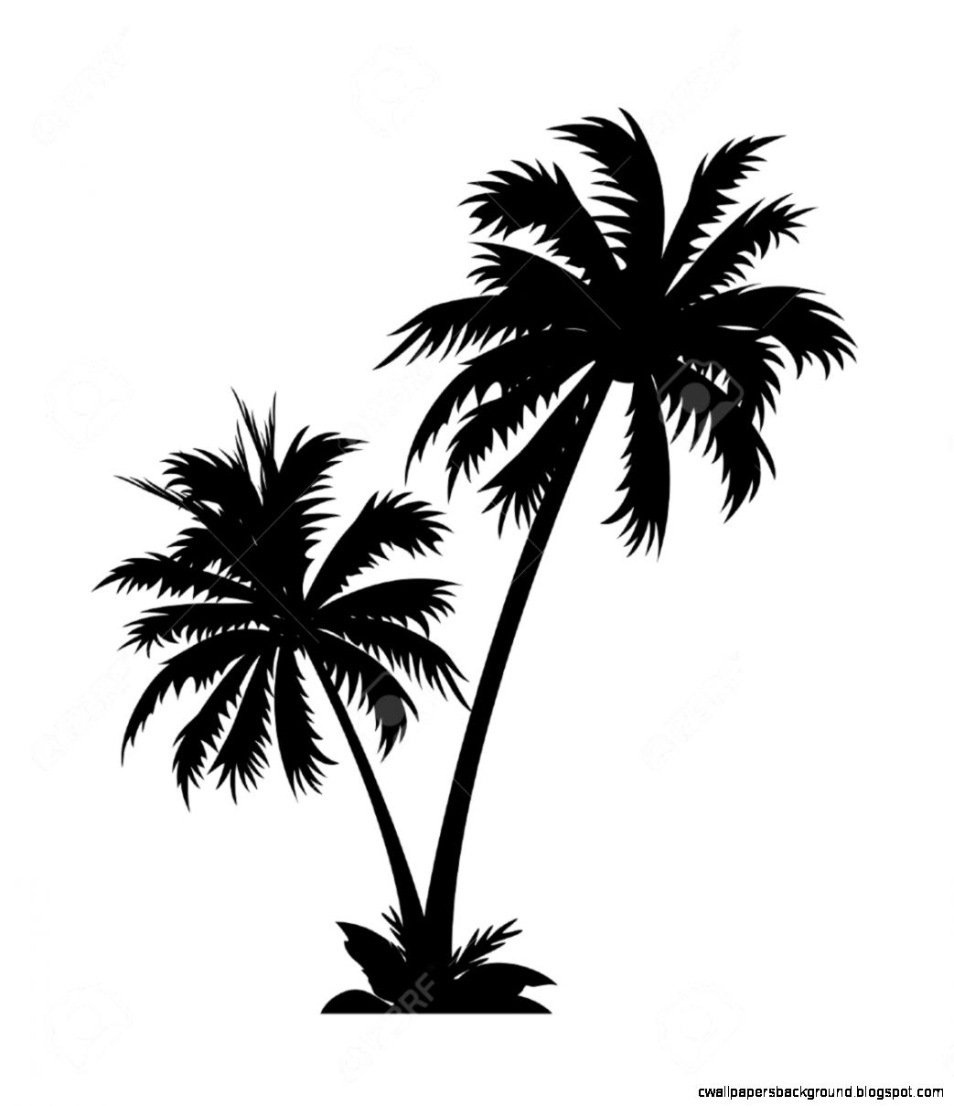 Palm Tree Hut Png Black And White Free Palm Tree Hut Black And