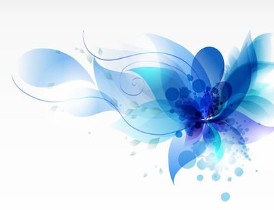 Blue Swirls - Free Fluorescent Blue Swirls and Floral Leaves Clipart and Vector ...