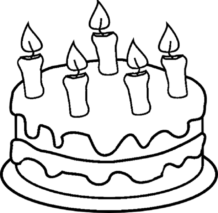 Birthday Cake Coloring Png Free Birthday Cake Coloring Png Transparent Images 70996 Pngio