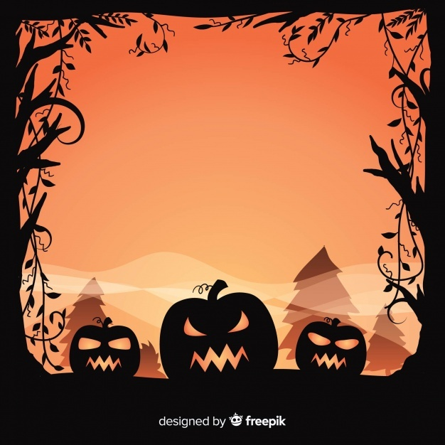 Halloween Picture Backgrounds Png - Free Halloween background design with spooky pumpkins SVG DXF EPS ...