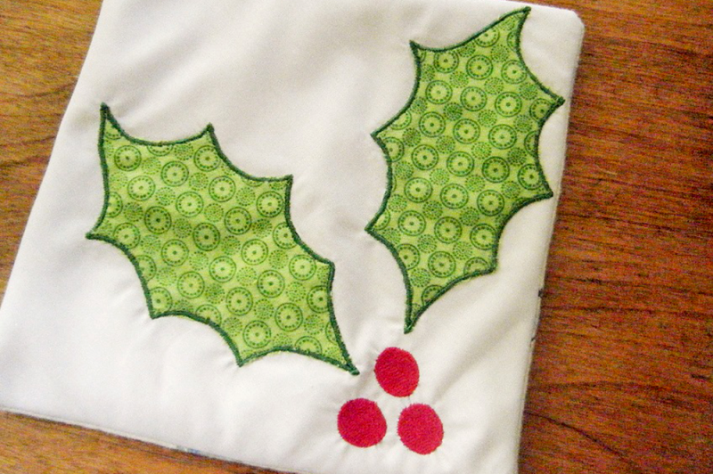 Embroidery Png Sites - Free Holly with Berries | Applique Embroidery Crafter File - Free ...