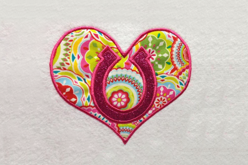 Embroidery Png Sites - Free Horseshoe Heart | Applique Embroidery Crafter File - Best ...