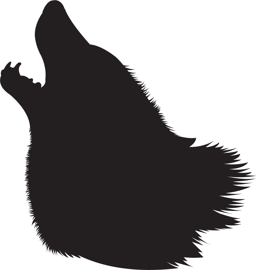 Wolf Head Silhouette Png - Free Howling Wolf Head Silhouette, Download Free Clip Art, Free ...