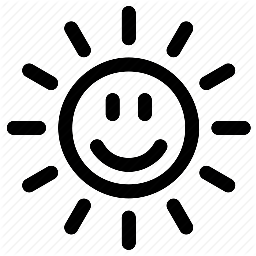 Happy Sun Png Black And White & Free Happy Sun Black And ...