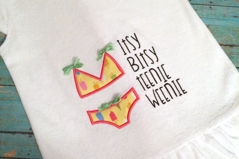 Embroidery Png Sites - Free Itsy Bitsy Bikini | Applique Embroidery Crafter File - Free ...