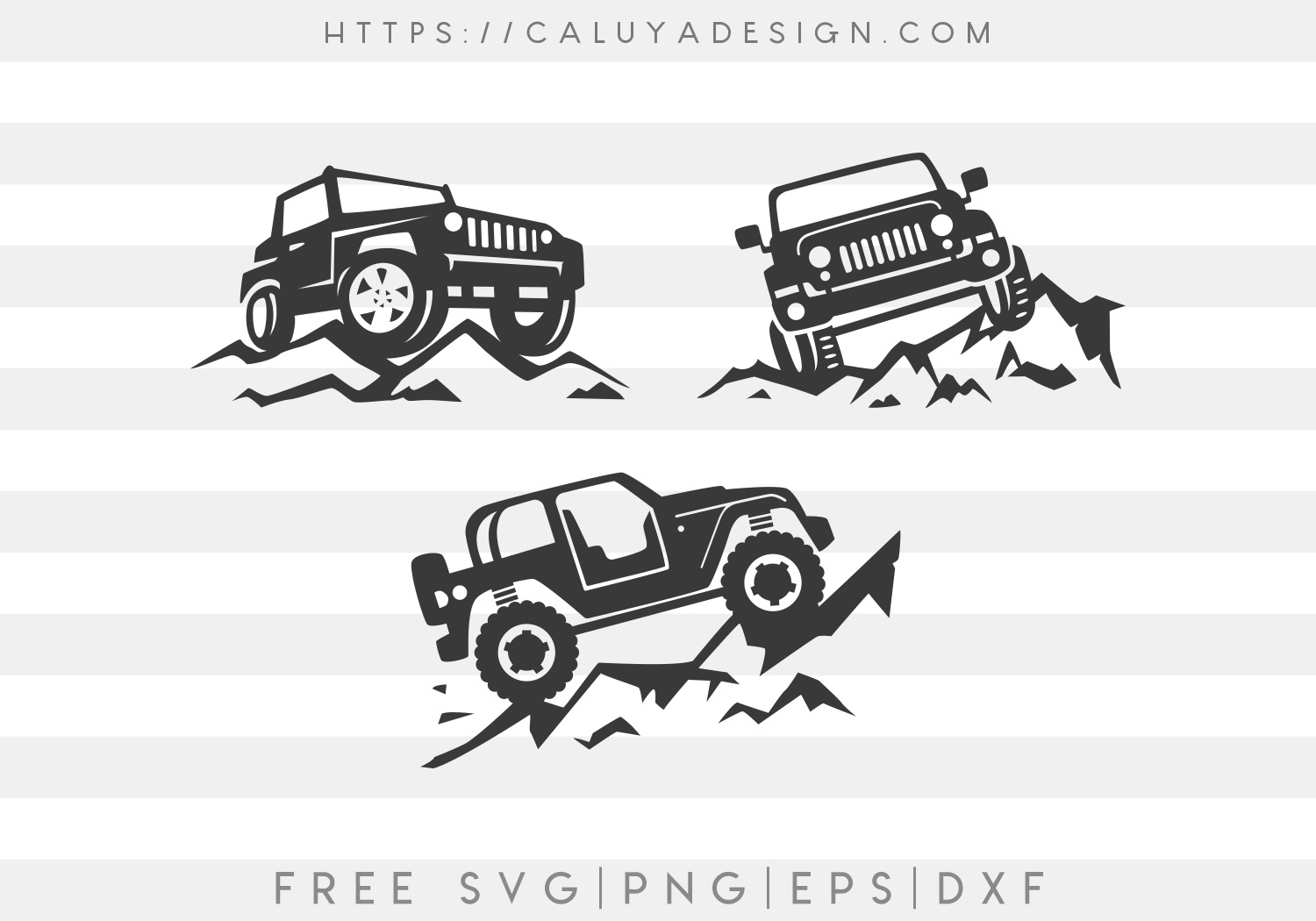 Jeep Svg Png - Free Jeep On Mountain SVG, PNG, EPS & DXF by Caluya Design