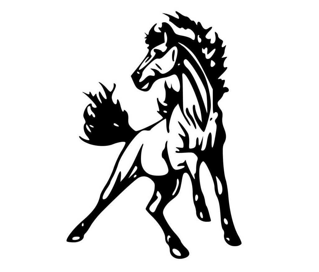Free Mustang Horse Silhouette Download 2382014 Png Images Pngio