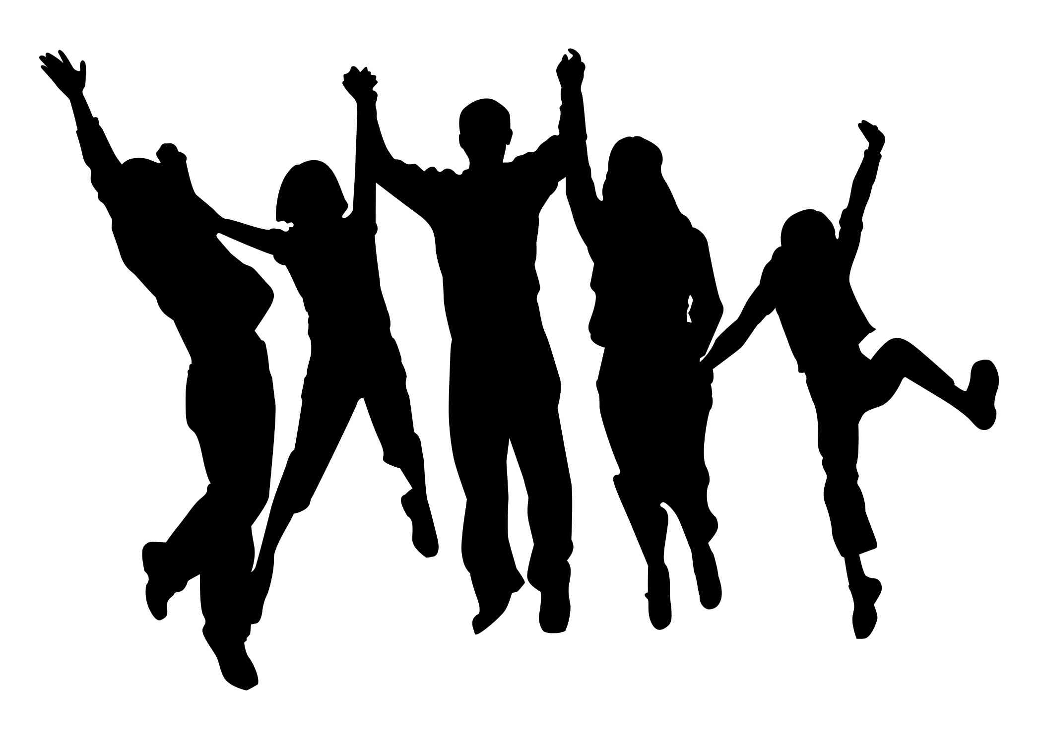 Black And White Png People - Free Party People Cliparts, Download Free Clip Art, Free Clip Art ...