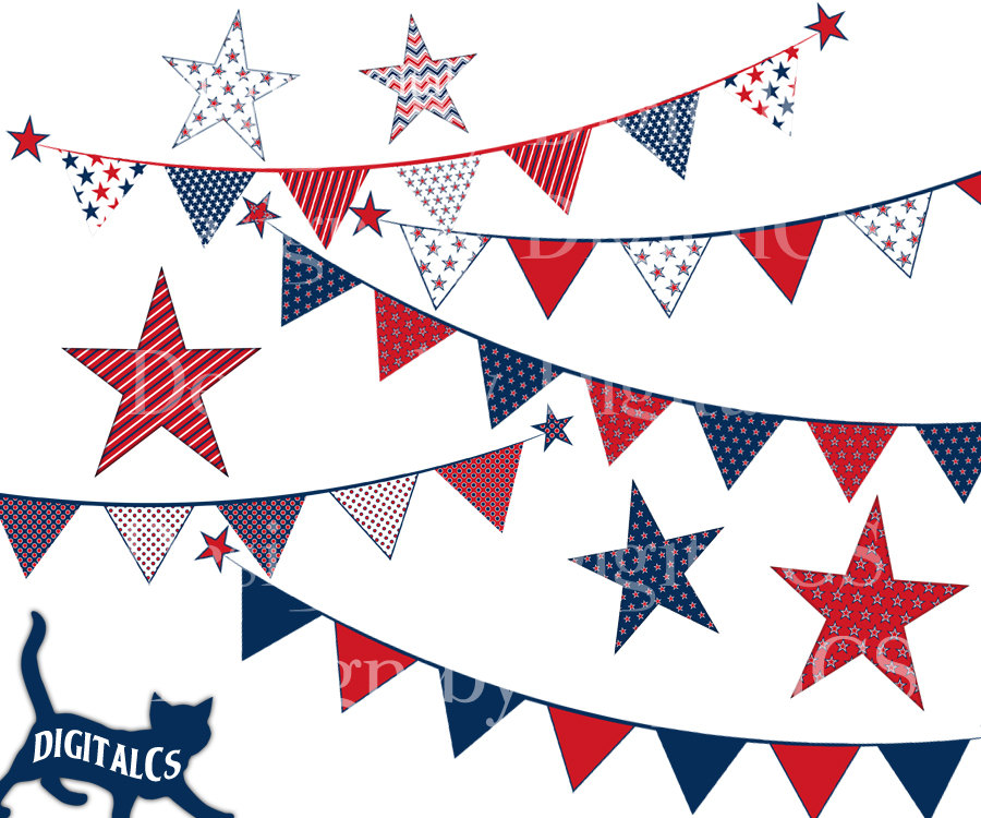 Old Fashioned Patriotic Bunting Png - Free Patriotic Bunting Cliparts, Download Free Clip Art, Free Clip ...