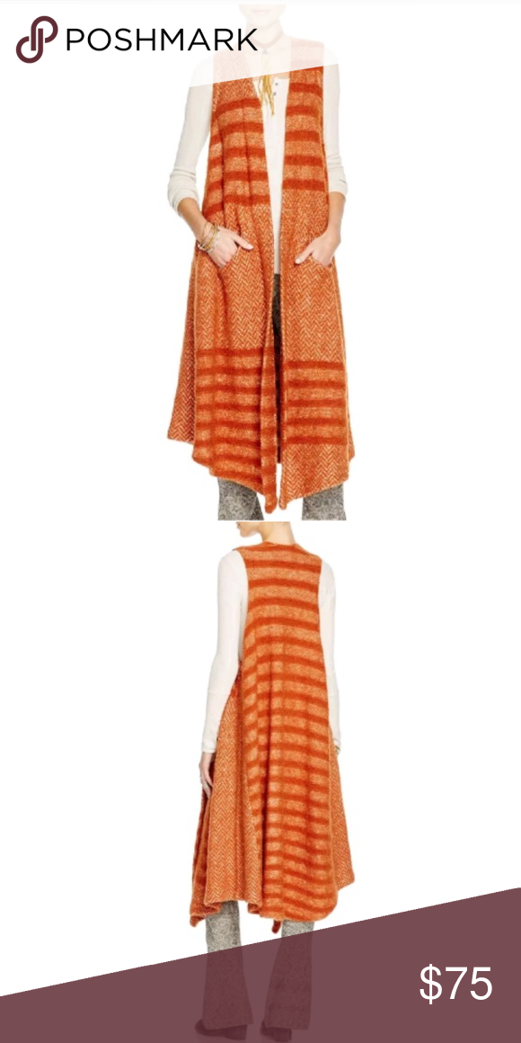 Orange Png Of People At A Park - Free People Orange Stripe Queens Park Cardigan Open front ...