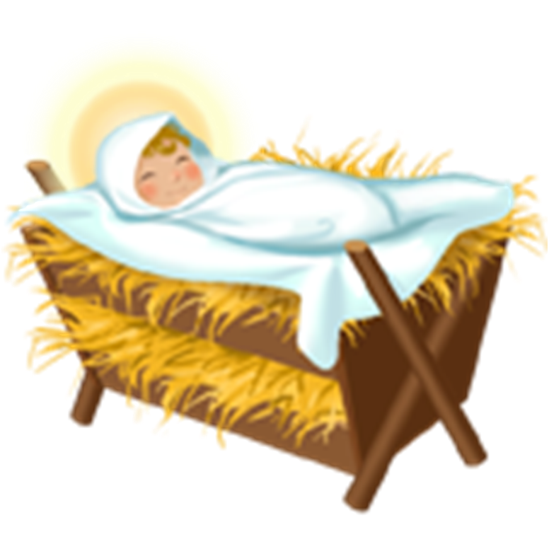 Free Picture Of Baby Jesus In A Manger, #129291 - PNG ...