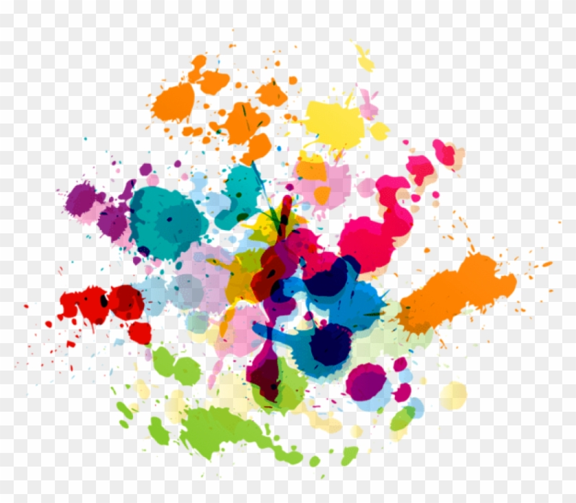 Transparent Paint Splatter - Free Png Download Colorful Paint Splatter Transparent - Paint ...