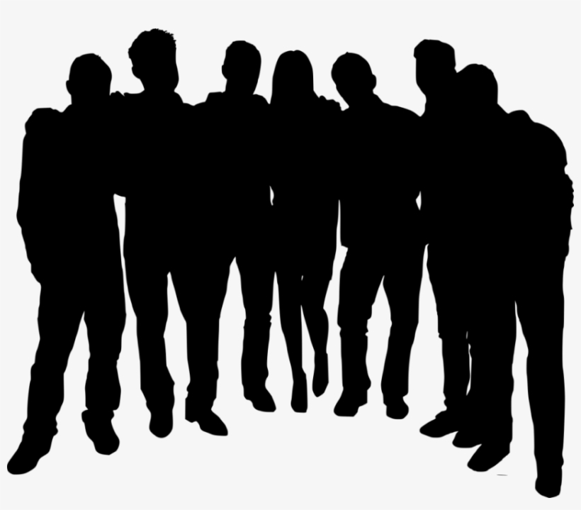Group Of People Transparent - Free Png Group Photo Posing Silhouette Png Images Transparent ...