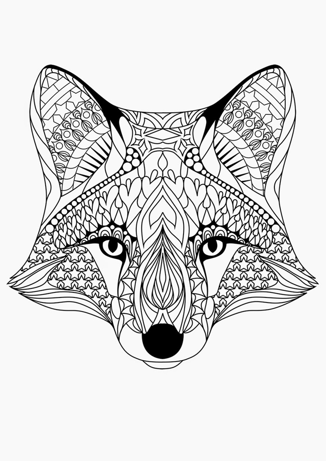Animal Coloring Page Png - Free Printable Coloring Pages for Adults {12 More Designs | Fox ...