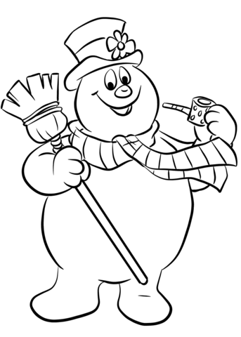 Free Printable Coloring Pages Snowman 1541850 Png Images Pngio