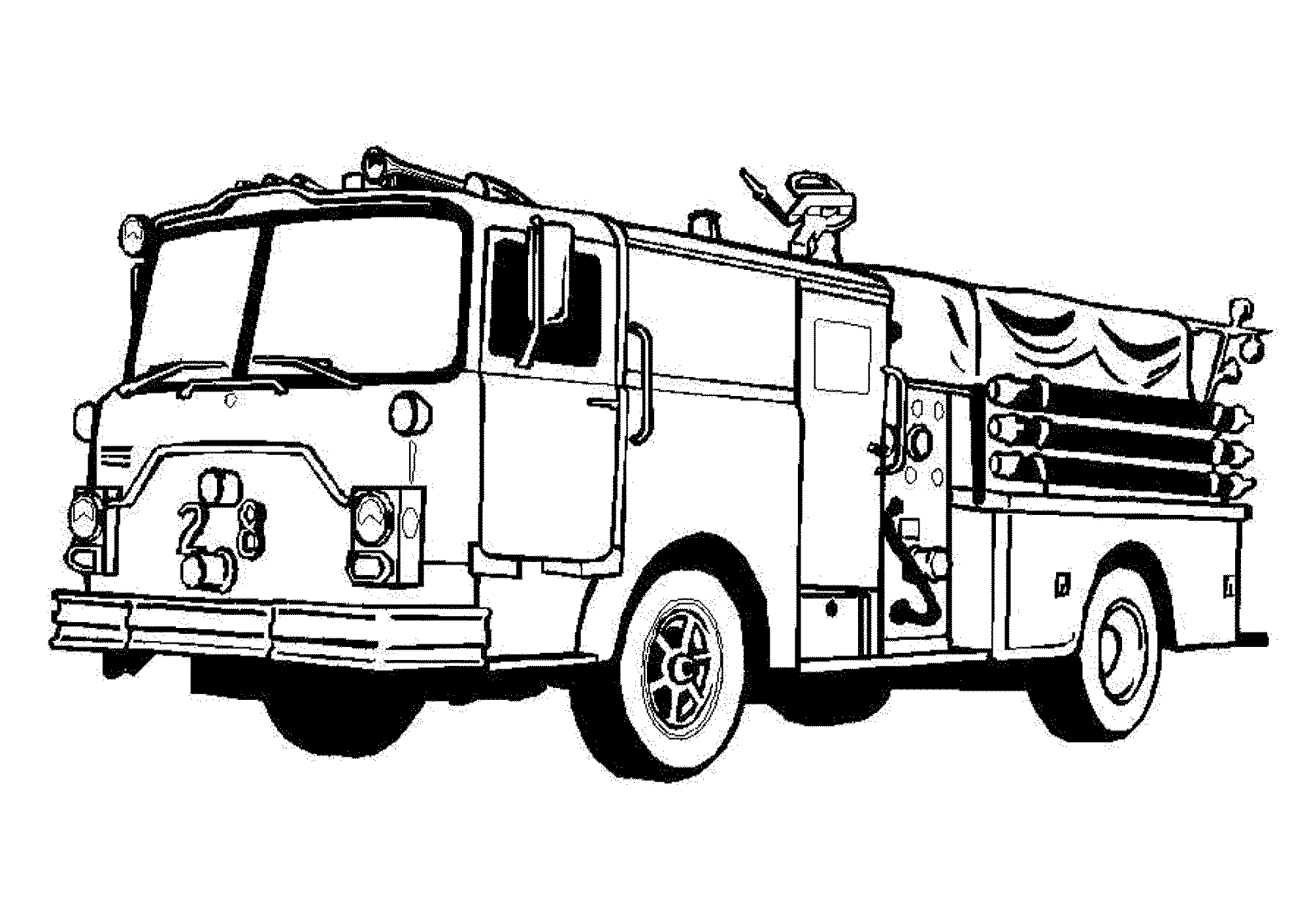 Free Printable Fire Truck Coloring Pages 2163917 Png Images Pngio