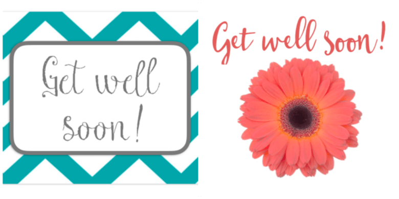 This is a graphic of Exhilarating Get Well Soon Printable