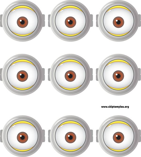 This is a photo of Minions Printable Eyes throughout transparent
