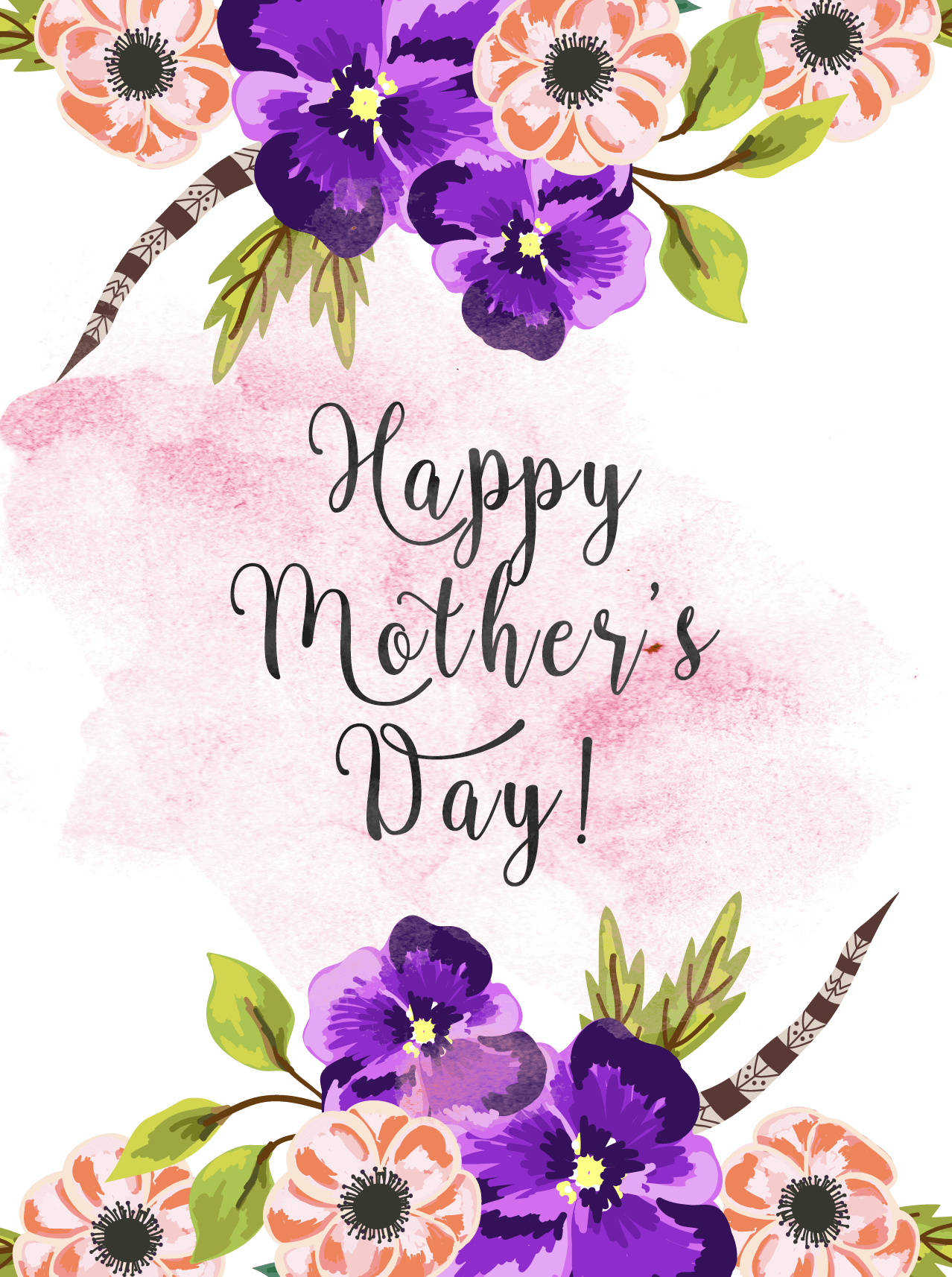 Mothers Day Greetings Png - Free Printable Mother's Day Cards