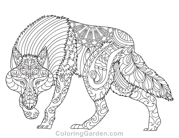 Wolf Coloring Pages For Adults Png Free Wolf Coloring Pages For Adults Png Transparent Images 142088 Pngio