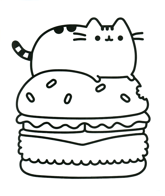 Free Pusheen Coloring Pages Printable 793441 Png Images