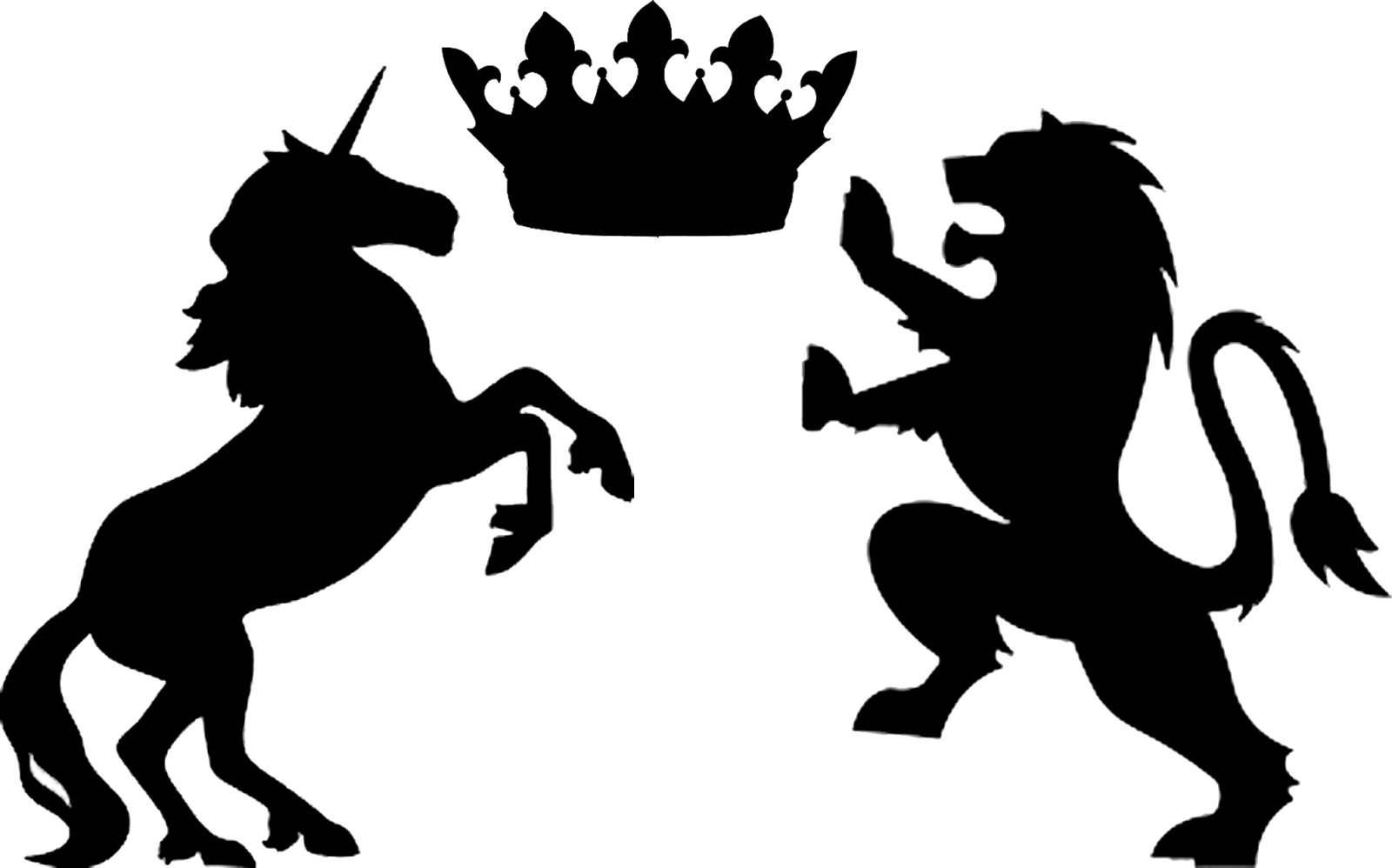The Lion And The Unicorn Png - Free Unicorn Silhouette Head, Download Free Clip Art, Free Clip ...