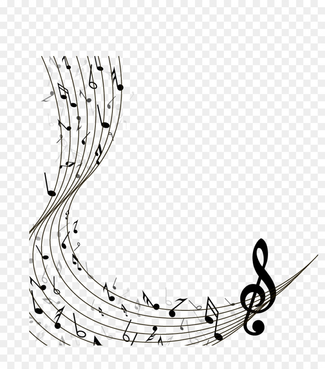 music notes on a staff png  u0026 free music notes on a staff png transparent images  3693