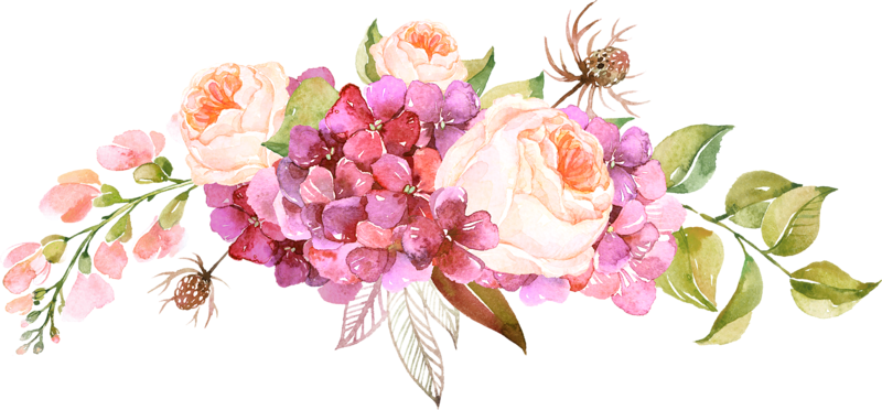 Watercolor Flowers Png Vector Psd And Clipart With: Free Garden Png Borders & Free Garden Borders.png