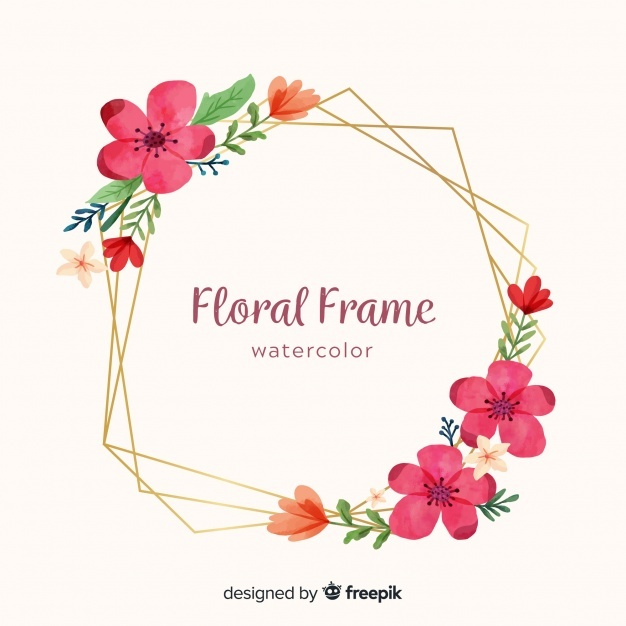 Free Watercolor Floral Frame Svg Dxf Eps 684038 Png Images Pngio