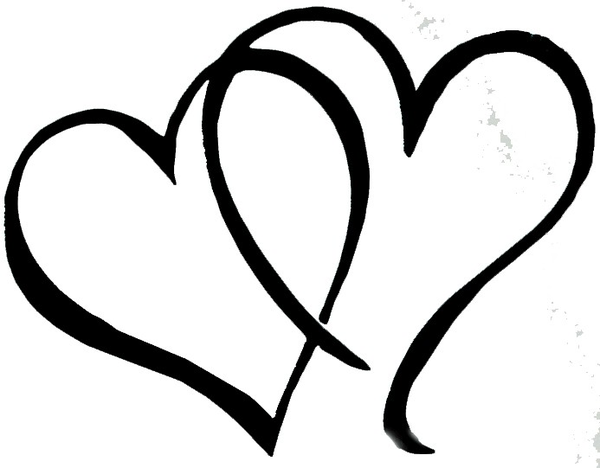 Black And White Wedding Hearts Png - Free Wedding Heart Cliparts, Download Free Clip Art, Free Clip Art ...