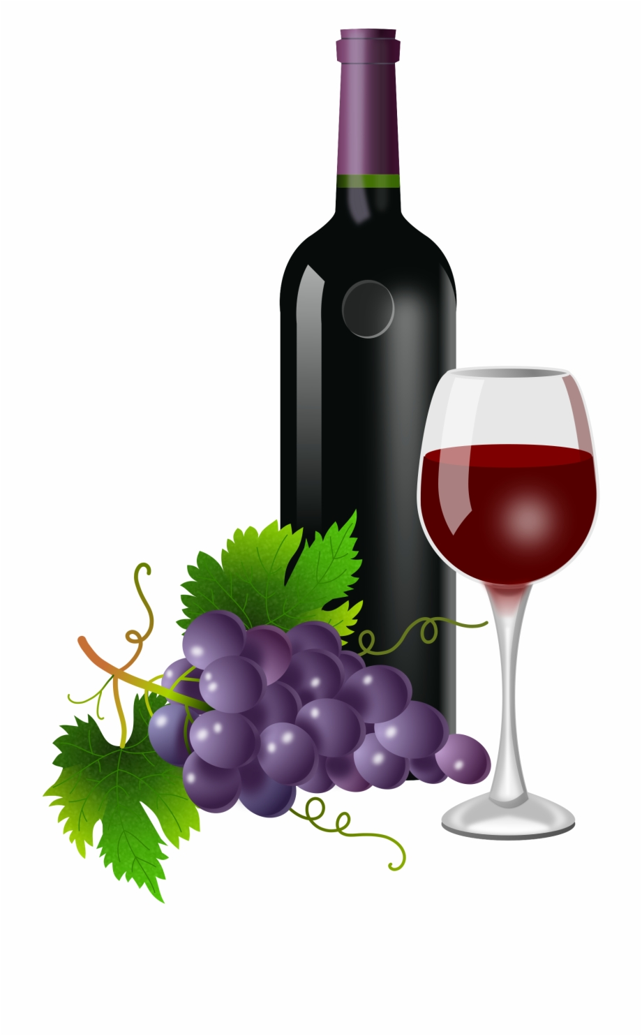 Wine Bottle And Grapes Png - Free Wine Bottle Silhouette Png, Downloa #1454338 - PNG Images - PNGio