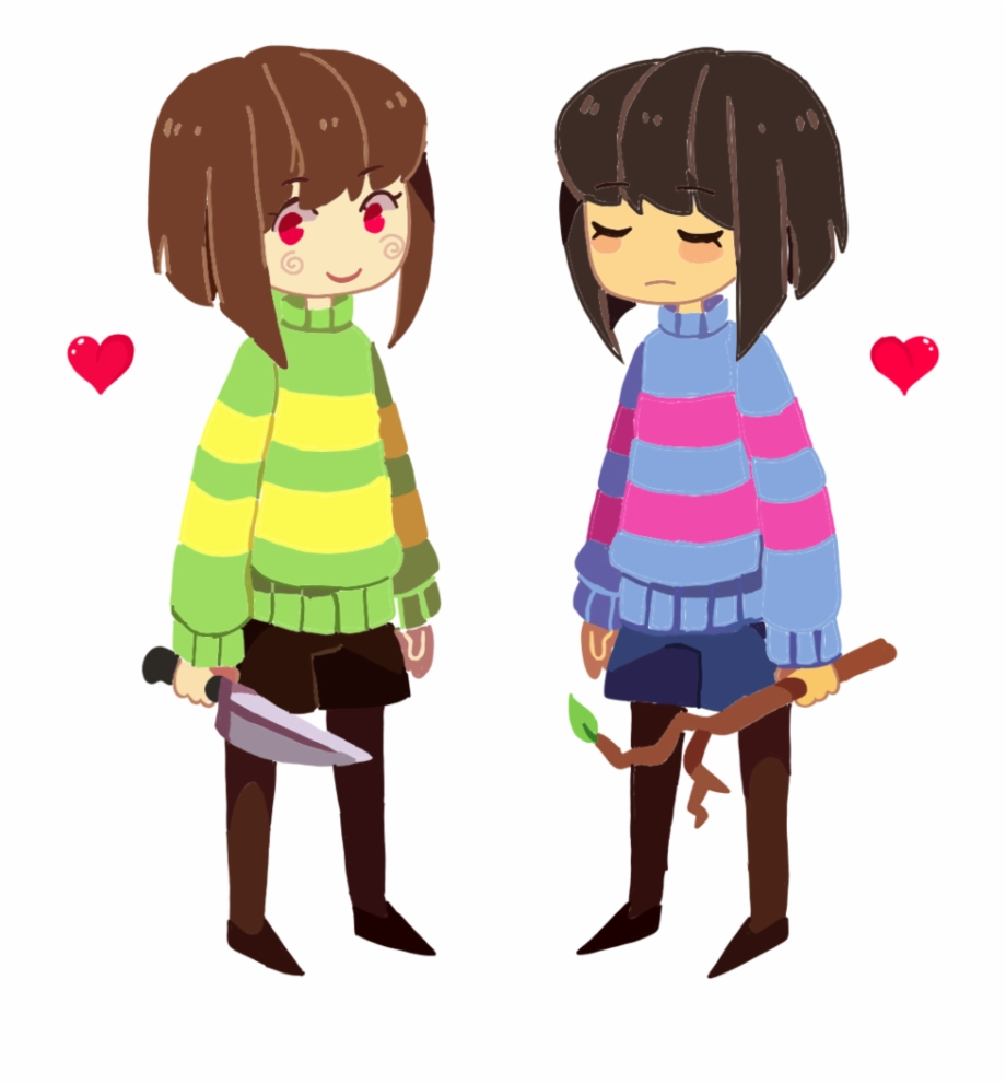 Frisk And Chara In Undertale Frisk Und 1013698 Png Images Pngio