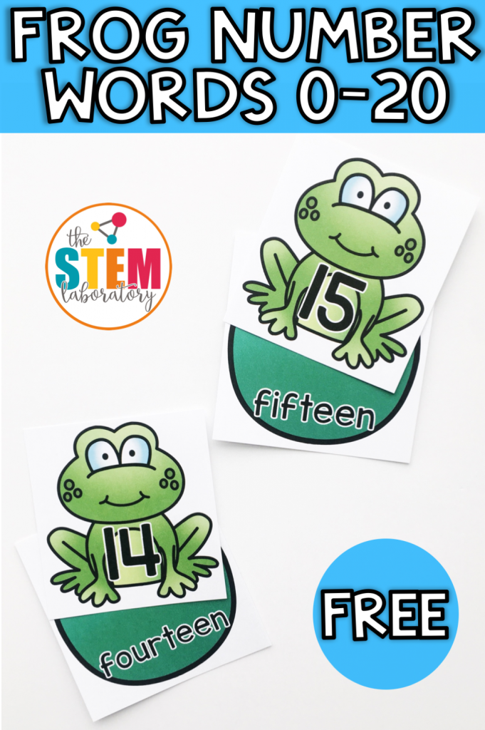Frog Math Png - Frog Numbers 0-20 - The Stem Laboratory