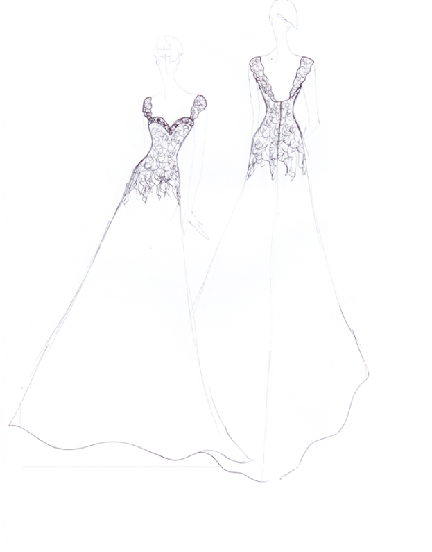 Wedding Dress Png Sketches - From Sketch to Dress Archives - Estilo Moda