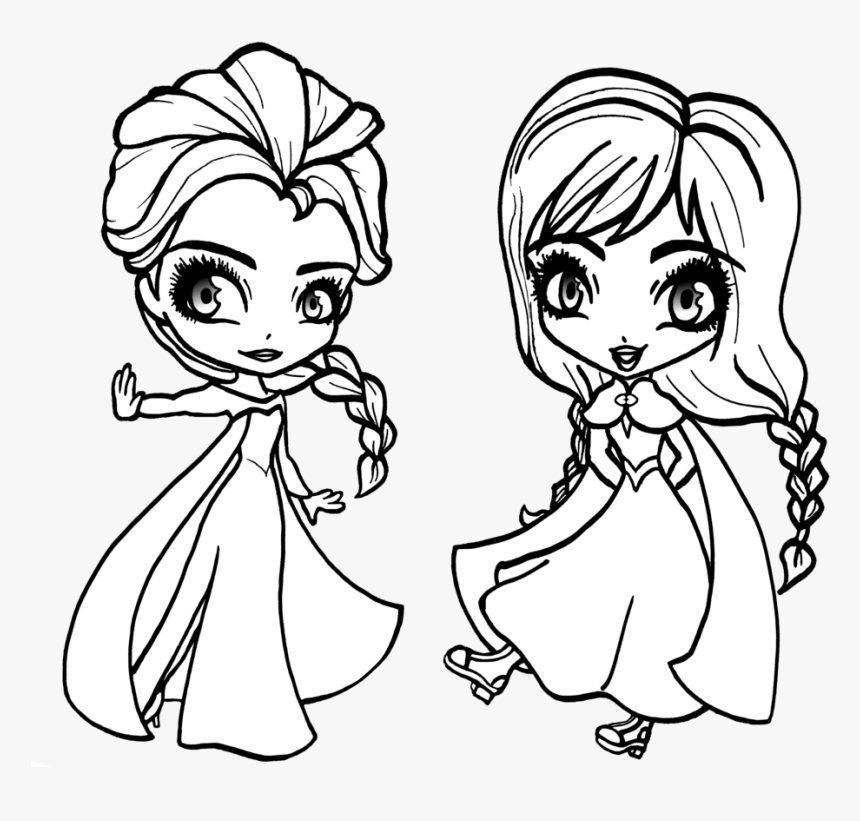 Anna and Elsa from Disney Frozen 2 Hugging Coloring Page | crayola.com | 821x860