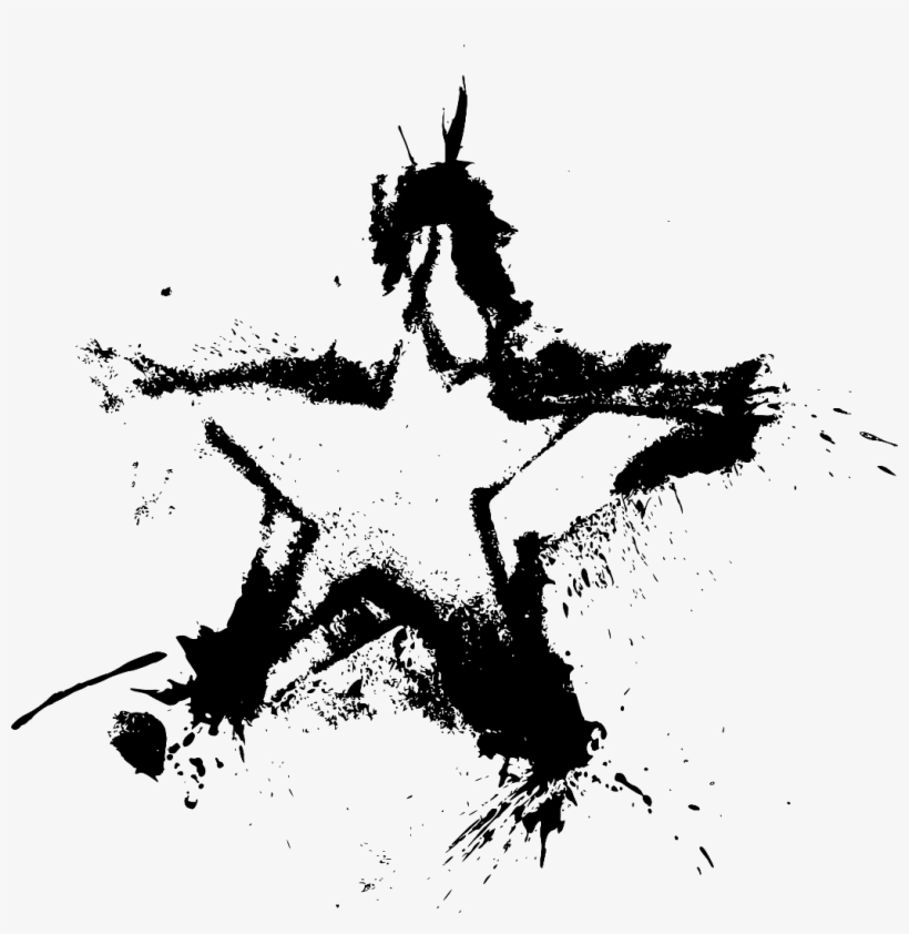 Grunge Star Png - Ftestickers Star Grunge Paint Drops Splash Stamp Art - Grunge Star ...
