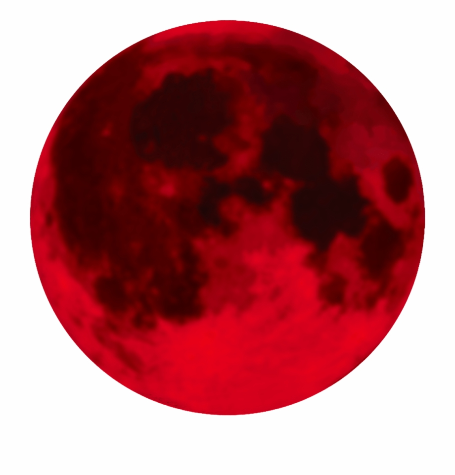 Red Moon Png - Full Moon Transparent Background Blood - Red Moon Clip Art ...