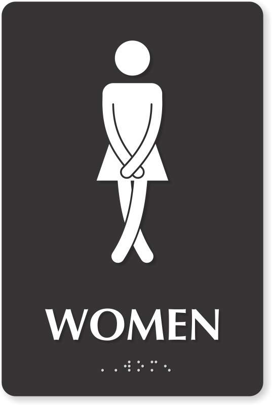 Funny Bathroom Signs 311431 Png Images Pngio