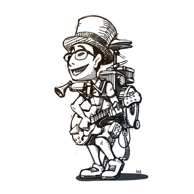 Png One Man Band - Funny Tombow, the one-man band by artieyoon on DeviantArt