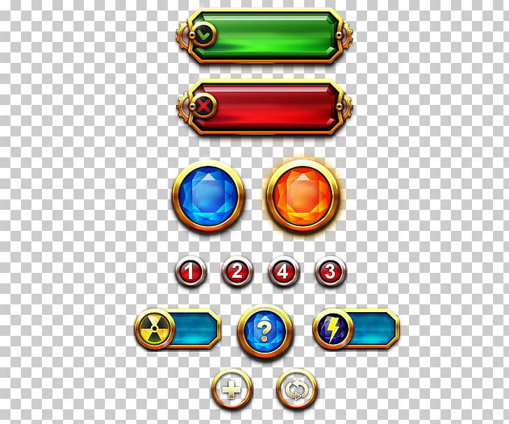 Free Red Button Game Png - Game Button Jewel Destroyer Graphical user interface, game ui, red ...