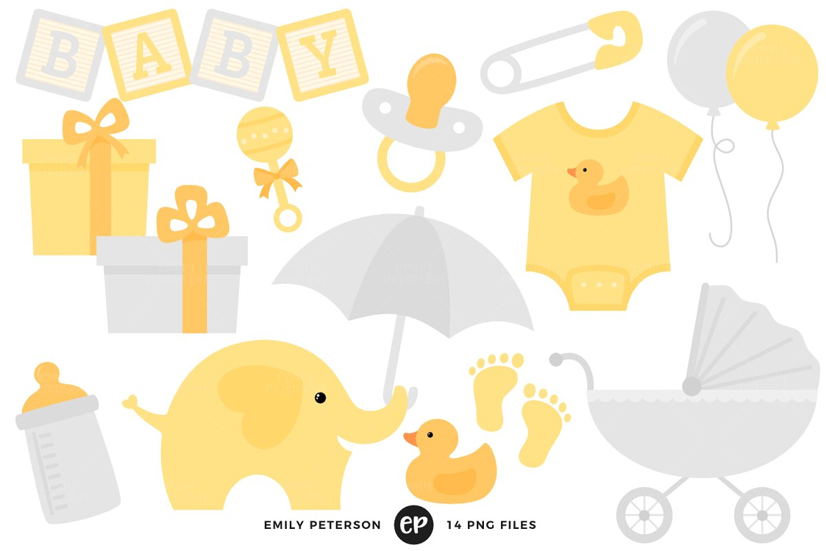 Gender Neutral Baby Shower Clipart Ill 864922 Png Images Pngio