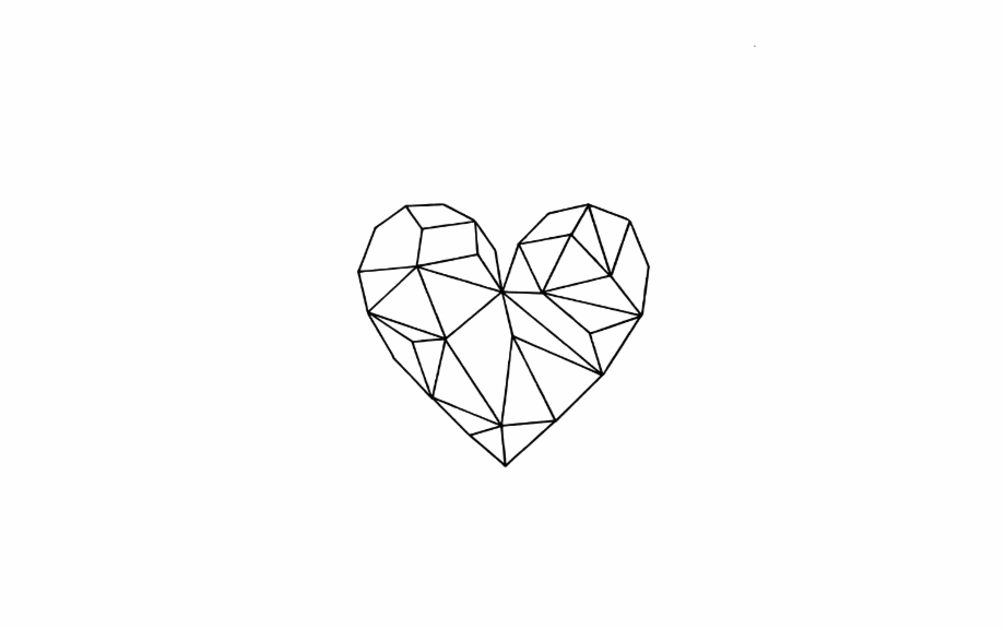 Geometric Heart Outline Png Simple Aes 1174076 Png Images Pngio