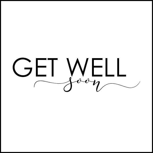 Get Well Soon Png Black And White - Get Well Soon Tag Black/White – Blume Market