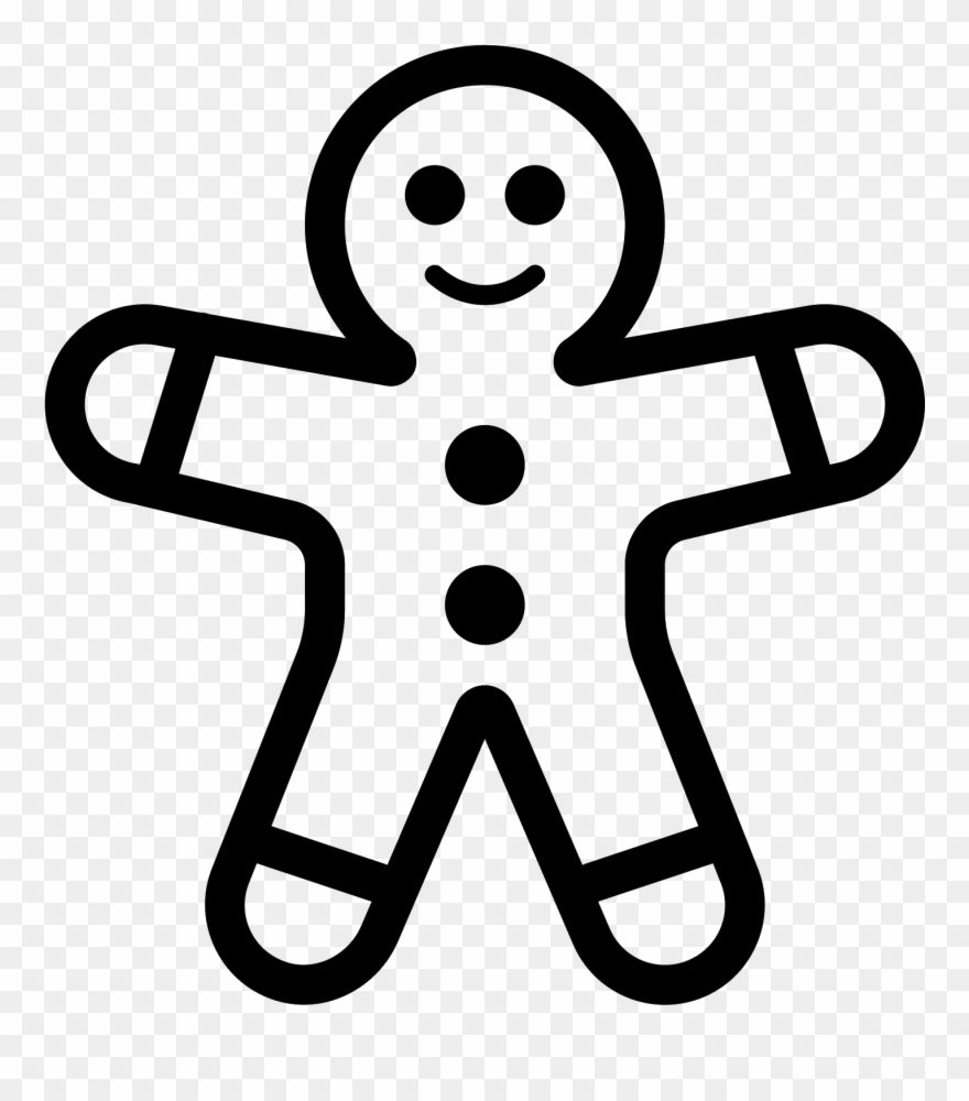 Gingerbread Man Black And White Png & Free Gingerbread Man ...