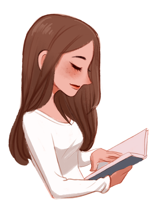 Girl Reading A Book Png - Girl Book Female - Free image on Pixabay