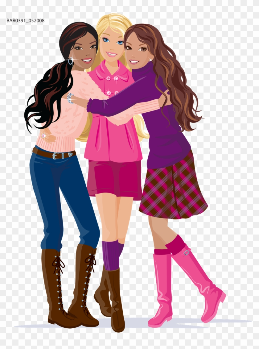 Friends Day Png - Girl Clipart Friend - Happy Friendship Day My All Friends, HD Png ...
